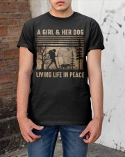 A Girl And Her Dog Classic T-Shirt apparel-classic-tshirt-lifestyle-31