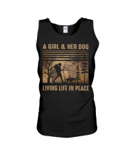 A Girl And Her Dog Unisex Tank tile