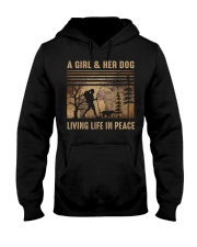 A Girl And Her Dog Hooded Sweatshirt tile