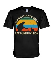 Cat Puke Division V-Neck T-Shirt thumbnail