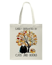 Cats And Books Tote Bag thumbnail