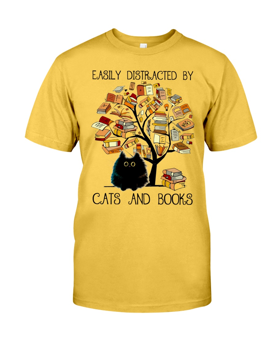 Cats And Books Classic T-Shirt