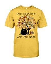 Cats And Books Classic T-Shirt front