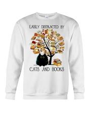 Cats And Books Crewneck Sweatshirt thumbnail