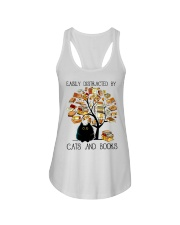 Cats And Books Ladies Flowy Tank thumbnail