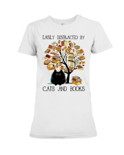 Cats And Books Premium Fit Ladies Tee thumbnail