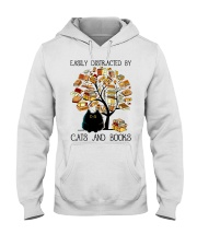 Cats And Books Hooded Sweatshirt thumbnail