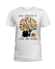 Cats And Books Ladies T-Shirt thumbnail