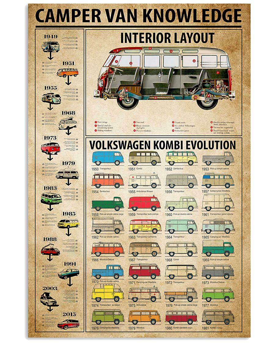 Camper Van Knowledge 11x17 Poster