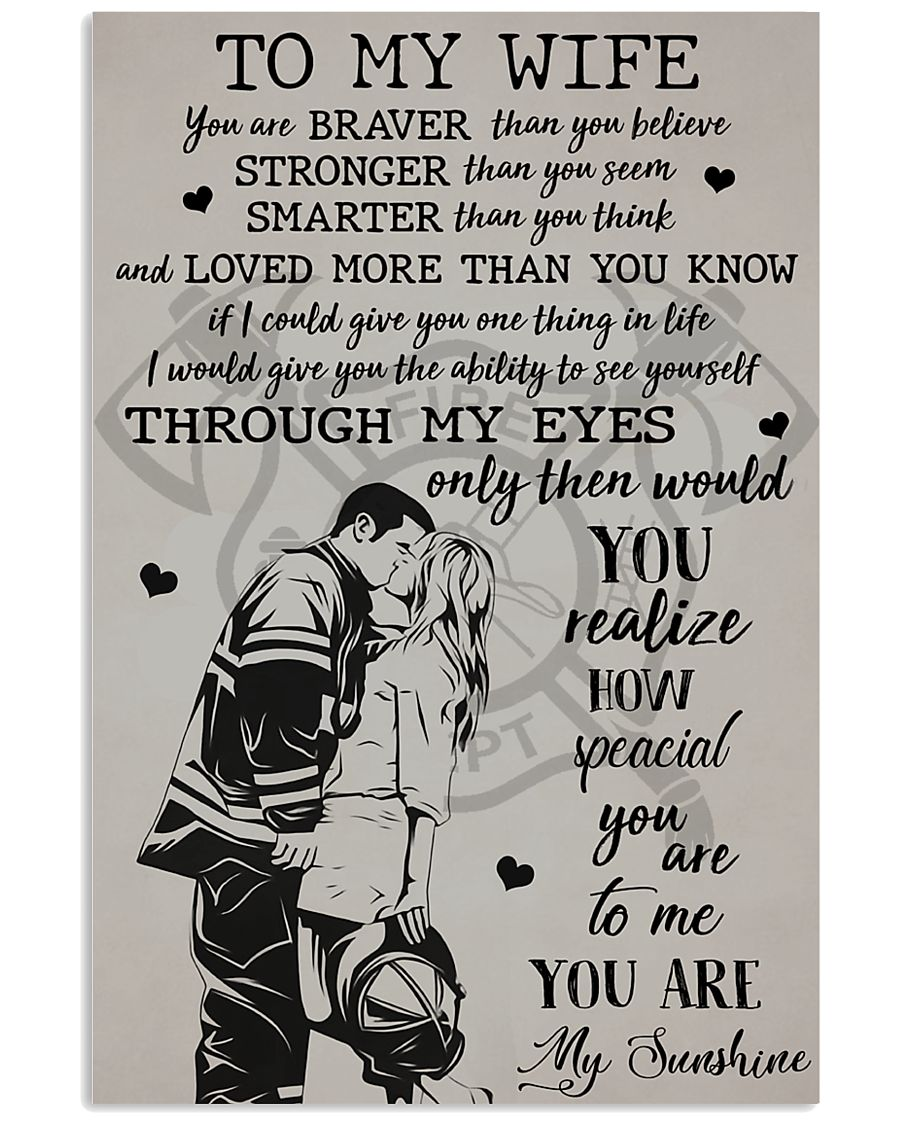 To My Wife 11x17 Poster