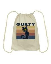 Guilty Cat Drawstring Bag thumbnail