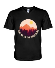 Take Me To The Mountains V-Neck T-Shirt thumbnail