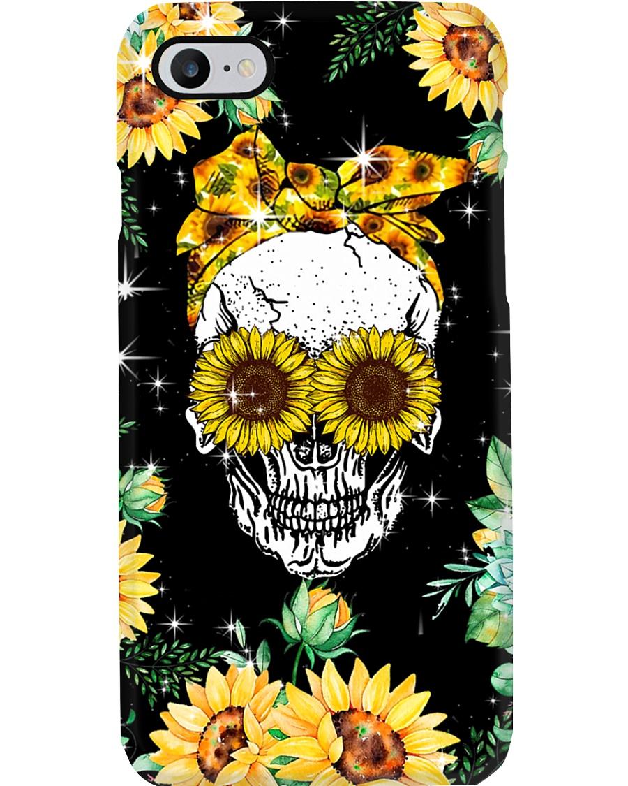 Skull Love Sunflowers Phone Case