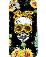 Skull Love Sunflowers Phone Case i-phone-7-case