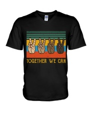 Together We Can V-Neck T-Shirt thumbnail