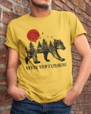 Never Stop Exploring Classic T-Shirt apparel-classic-tshirt-lifestyle-26