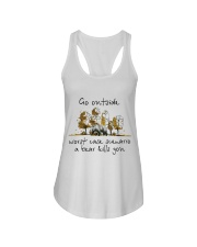 Go Outside Ladies Flowy Tank tile