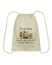 Go Outside Drawstring Bag tile