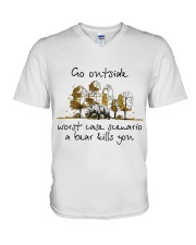 Go Outside V-Neck T-Shirt tile