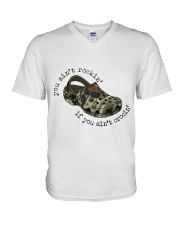 You Ain't Rockin V-Neck T-Shirt tile