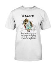 Thank Teacher Classic T-Shirt front