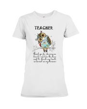 Thank Teacher Premium Fit Ladies Tee thumbnail