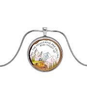 The Mountain Are Calling Metallic Circle Necklace thumbnail