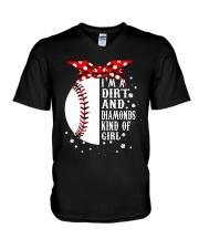 I'm A Dirt And Diamonds V-Neck T-Shirt thumbnail
