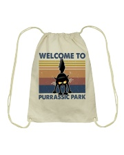Welcome To Purassic Park Drawstring Bag thumbnail