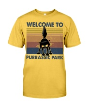 Welcome To Purassic Park Classic T-Shirt front