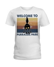 Welcome To Purassic Park Ladies T-Shirt thumbnail