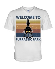 Welcome To Purassic Park V-Neck T-Shirt thumbnail