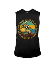 With Camping Alcohol Sleeveless Tee tile