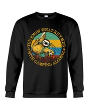 With Camping Alcohol Crewneck Sweatshirt tile
