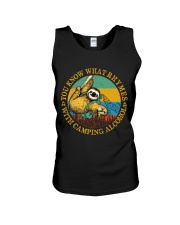 With Camping Alcohol Unisex Tank tile