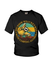 With Camping Alcohol Youth T-Shirt tile