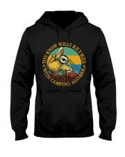 With Camping Alcohol Hooded Sweatshirt front