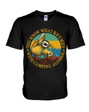 With Camping Alcohol V-Neck T-Shirt tile