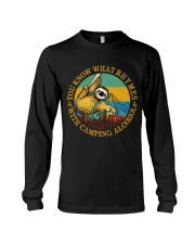 With Camping Alcohol Long Sleeve Tee tile