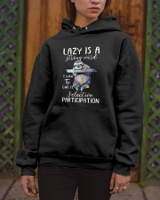 Lazy Is A Strong Word Hooded Sweatshirt apparel-hooded-sweatshirt-lifestyle-front-03