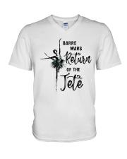 Barre Wars Retur Of The Jete V-Neck T-Shirt thumbnail