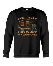 A Girl And Her Dog Crewneck Sweatshirt thumbnail