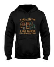 A Girl And Her Dog Hooded Sweatshirt front