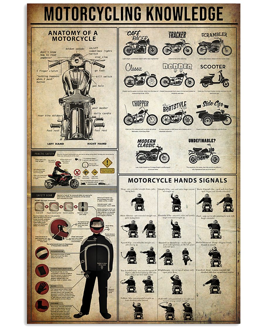 Motorcycling Knowledge 11x17 Poster