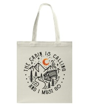 The Cabin Is Calling Tote Bag thumbnail