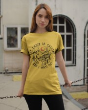The Cabin Is Calling Classic T-Shirt apparel-classic-tshirt-lifestyle-19