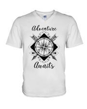 Adventure Awaits V-Neck T-Shirt thumbnail