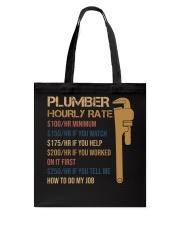 Plumber Hourly Rate Tote Bag thumbnail