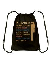 Plumber Hourly Rate Drawstring Bag thumbnail