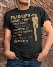 Plumber Hourly Rate Classic T-Shirt apparel-classic-tshirt-lifestyle-26